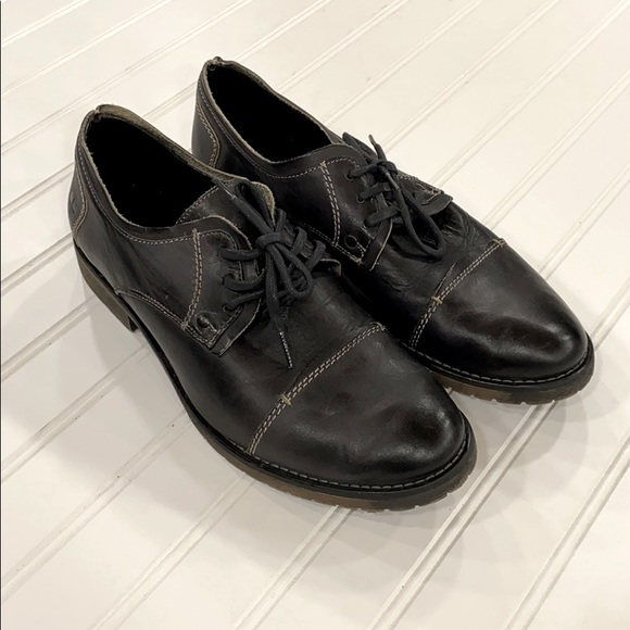 Bed|Stü Repeal Black Leather Derby Oxfords sz 9